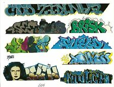 G SCALE GRAFFITI DECALS G04 FROM REAL GRAFFITI PHOTOS ICH ICHABOD