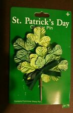 Vintage Cluster Gibson Button Lapel Pin Figural St Patricks Day Irish NOS