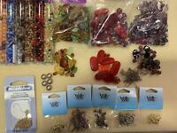 Bead kit  Set Assorted Czech Glass Beads with Findings and Plier and Tweezer.