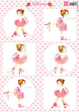 NON DIE CUT TOPPERS FOR CARDS OR CRAFTS - MARIANNE BALLERINA