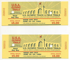 1984 Los Angeles Summer Olympics American Trials Athletics Tickets  July 16-24