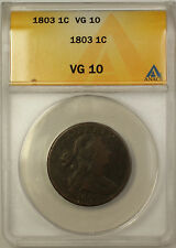 1803 Draped Bust Cent 1c Coin ANACS VG-10