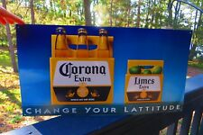Corona Extra,change your lattitude,imported beer from Mexico,original sign