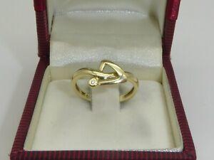 Diamant 585 Gelbgold 14K Gold Ring Pfeil Verlobung RG 54 -17,2 mm 4475
