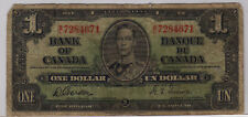 1937 Bank of Canada One Dollar Bill (ID=671 RP5)