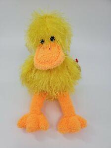 Ty Punkies SPLASH The Duck Yellow Beanbag Plush Stuffed Animal Toy w TAG B300