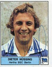 Ungeklebtes Panini-Bild 1979 mit Autogramm: DIETER NÜSSING (Hertha BSC) #2