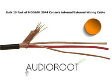 Bulk 10 foot of ORANGE MOGAMI 2944 26 AWG Console Internal/External Wiring Cable