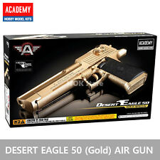 ACADEMY Desert Eagle 50 Gold Airsoft BB Toy Gun Replica Full Size Non Metal Gun