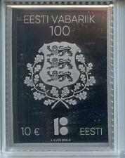 More details for estonia 2018 mnh republic of estonia centenary 1v silver stamp stamps