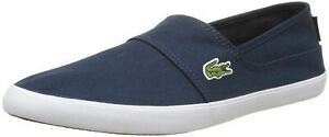 Lacoste Marice BL 2 Blue White Canvas Mens Slip-ons Shoes