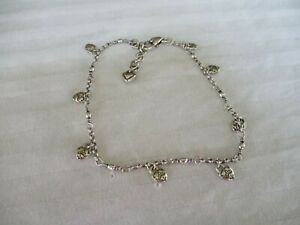 Authentic Brighton Silver Heart Charm Anklet