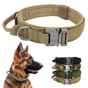 3.8cm Hundehalsband mit Griff K9 Taktisches Militär T9 Halsband Gepolstert Nylon