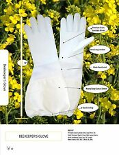 New vented goatskin beekeeping gloves - size Xl Xlarge