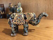 ANTIQUE CHINESE CLOISONNÉ  ENAMEL TECHNIQUE 20thC Elephant