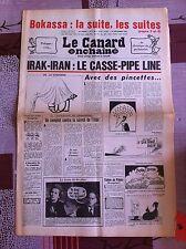 Le Canard Enchainé 24/09/1980; Iran-Irak; Le casse Pipe Line/ Bokassa