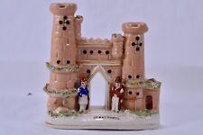 Vintage Staffordshire Style Flatback SEBASTOPOL Porcelain Figural Spill Vase