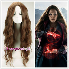Avengers: Age of Ultron Scarlet Witch long wavy curly brown cosplay wig