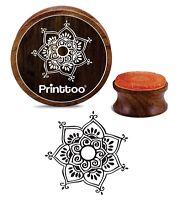 Printtoo Floral Mandala Aus Holz Stempel Craft Textile Diy Briefmarken