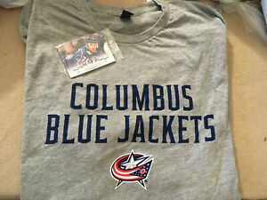 NEW-Columbus Blue Jackets T-Shirt Sz XL & Pack of Upper Deck Trading Cards-EB12