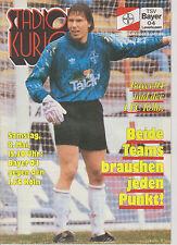 Programm   TSV Bayer 04 Leverkusen - 1.FC Köln  1. Bundesliga Saison 1992/93