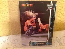 WWE EDGE ROYAL RUMBLE 2002 FLEER COLLECTOR TRADING CARD #39 & HOLDER