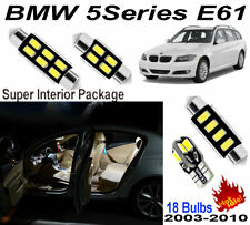 18 Blubs White 5630 LED Interior Light Kit BMW 5 Series E61 Wagon Standard Roof