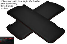 RED STITCH 2X SUN VISORS LEATHER COVERS FITS MERCEDES W108 STACKLIGHT 65-72