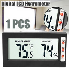 Digital LCD Thermometer Temperature Hygrometer Humidity Gauge For Home Car