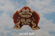 Donkey Kong 8 Bit Custom Made Christmas Ornament Nintendo Super Mario Bros DS