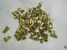 SPARK PLUG TERMINALS BRASS DIZZY  AND COIL 50 IN TOTAL 7MM 8MM CRIMP TYPE NEW