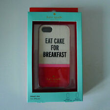 KATE SPADE Snap On EAT CAKE FOR BREAKFAST IPHONE CASE Cover 5 5S SE RARE New !
