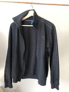 Adidas Triple Black Camo 3 Stipe Tracksuit Jacket size S