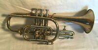 Vintage 1960s COUESNON Cornet trumpet PARIS #71942  Bb D2 + Case