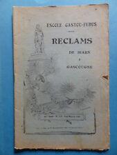 Reclams Béarn Gascogne N° 1-3 1944 Gascon Camelat Tucat Gers Haute-Garonne Daugé