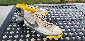 Nike Blazer SP high Metallic Silver yellow Mens Shoes Sz 10