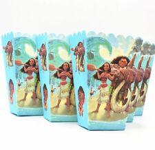 6pcs Moana Popcorn/Candy Cup Box Happy Birthday Party Favors Bucket