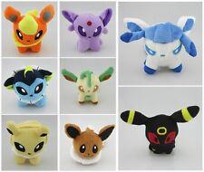 "Lot 8 Pokemon Plush Toy Doll figure Eevee Espeon Leafeon Umbreon Jolteon 5"" 12cm"