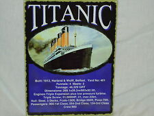 "TITANIC SHIP PICTURE PLAQUE METAL ""Harland & Wolff Belfast"" WHITE STAR LINE"