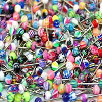V082 Acrylic Tongue Rings Bars Barbells Designs Patterns Signs Color 100 pcs