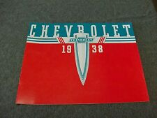 1938 Chevrolet Car Sales Catalog Color Must Have Item