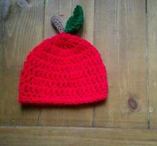 Crochet  Baby Accessories ~ Photo Props apple beanie hat boy girl unisex 0-3