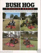Farm Equipment Brochure - Bush Hog - Finishing Mower Flat Deck Air Tunnel (F1716