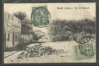 Colonie 1910 Eritrea Cartolina Assab per la Francia Sassone 34 x2 Firmata COL004