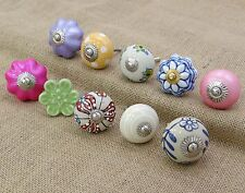 Multicolor Ceramic Drawer Pull Knob Cupboard Lot Of 10 Pcs Decorative Knobs