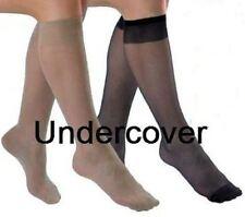 6 Pairs Ladies Pop Socks Knee High Tights 15 Denier Comfort Top