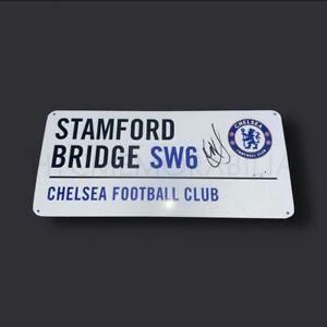 Christian Pulisic Chelsea Signed Road Sign COA
