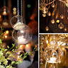 Clear Glass Round Hanging Candle Tea Light Holder Candlestick Home Wedding - 6CM
