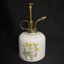 Vintage Japan Ceramic Porcelain Plant Mister Sprayer With Wildflowers