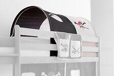Tunnel pour lit à étage et lit mezzanine Pirate Noir-Blanc